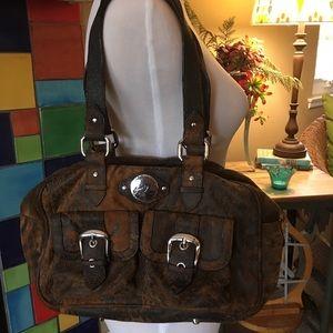 Junior Drake Distressed Leather Handbag